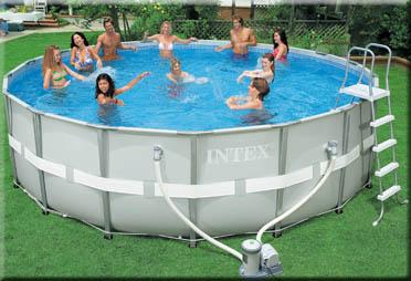 Intex zwembad rond 488 x 122 cm hoog for Opzetzwembad ingraven