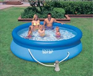 Intex zwembad rond 305cm x 76cm hoog - Rond het zwembad ...