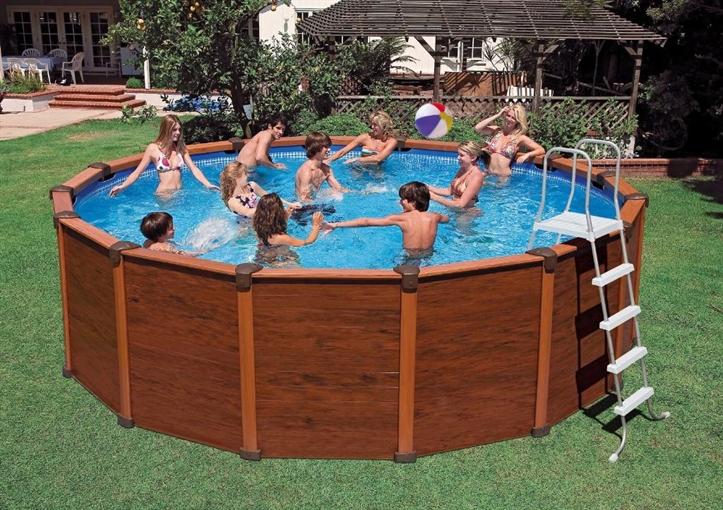 intex zwembad sequoia spirit wood grain frame pool. Black Bedroom Furniture Sets. Home Design Ideas